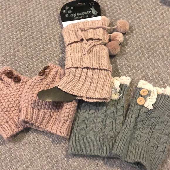 Accessories - 3 pairs of boot cuffs! 1 NWT and 2 worn once